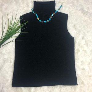 Chaus & Company black turtleneck sleeveless top